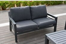 OUTFLEXX 2-Sitzer Sofa, anthrazit, Olefin/Alu