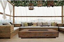 OUTFLEXX Feuertisch Loungetisch, braun, 152 x 70 x