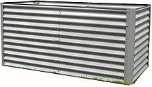 Outflexx Hochbeet, Aluminium, silber, 180 x 90 x