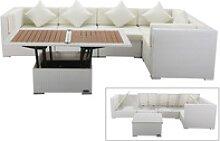 OUTFLEXX Loungemöbel Polyrattan, weiß, für 5