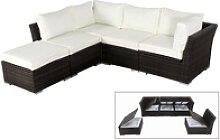 OUTFLEXX Loungemöbel-Set, braun marmoriert,