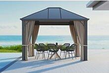 OUTFLEXX Profi Hardtop Pavillon, grau, Aluminium,