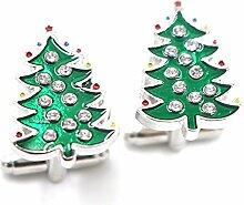 outflower 1Paar Weihnachten weist Manschettenknöpfe der Weihnachten Manschettenknöpfe Frauen Männer Dress Manschettenknöpfe Hochzeit Business-Geschenk