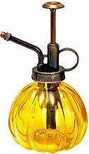 outflower 1pc Spray-Flasche Glas Retro Kürbis Kürbis Bewässerung der Farbe Blumen Garten Bewässerung Gießkanne, transparent, 9* 16cm 9*16cm gelb