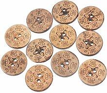 outflower 50DIY Verschluss Holz Button Runde