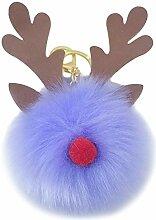 Outflower. Christmas Keychain - Imitation Rabbit