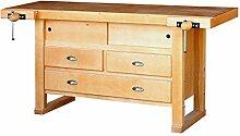 Outifrance 0013118Werkbank aus Holz mit Subwoofer mit 3Schubladen/2Schiebetüren 1,75m