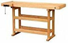 Outifrance 0013148C Werkbank aus Holz mit 2Speichen Vermittler 1,50m
