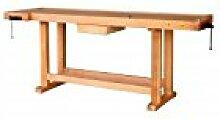 Outifrance 0013201Werkbank aus Holz mit Radius über/Schublade 2,00m