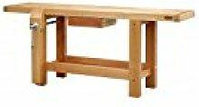 Outifrance 0017200Werkbank Profi aus Holz mit Radius über/Schublade/Presse 2,00m