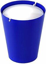 Outlook Design SMARTY II BIN Mülleimer mit Schwingdeckel blau