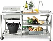 OutStanding Exklusiv Außenküche mit Kohlegrill