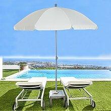 Outsunny, 2m, Neigung Sonnenschirm Sonnenschutz Sonnenschirm-Farben, Garten, Creme Weiß