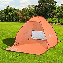 Outsunny 2Personen Pop Up Beach Zelt Wandern UV-Schutz Terrasse Sonnenschutz Shelter (orange)