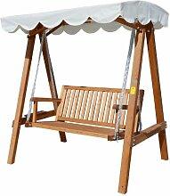 Outsunny 2-Sitzer Holz Holz Garten Swing Stuhl Sitz Hängematte Bench Möbel Liege Bett NEU (creme)