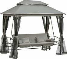 Outsunny® 3-Sitzer Hollywoodschaukel