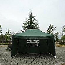 Outsunny 3x 4,5m Pop-Up-Pavillon Garten Outdoor Zelt Garage klappbar Camping Vorzelt mit Seitenwände UV-Schutz wasserabweisend + Tragetasche (grün)