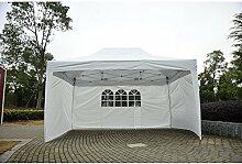 Outsunny 3x 4,5m Pop-Up-Pavillon Garten Outdoor Zelt Garage klappbar Camping Vorzelt mit Seitenwände UV-Schutz wasserabweisend + Tragetasche (weiß)