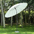 Outsunny Alu Sonnenschirm Gartenschirm Balkonschirm 250x233cm creme
