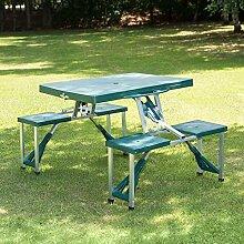 Outsunny-Aluminium-Picknicktisch und -Bank, für