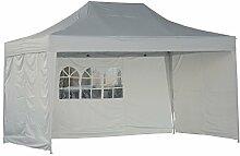 Outsunny® Faltpavillon Pavillon Faltzelt Partyzelt Gartenzelt 3x4,5m Weiß NEU