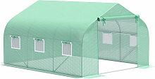Outsunny® Foliengewächshaus 3,5x3x2m - grün