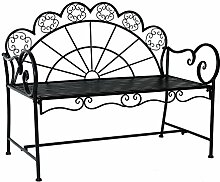 Outsunny® Gartenbank Parkbank Sitzbank Bank Gartenmöbel 2-Sitzer Metall
