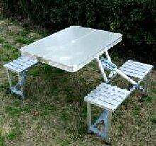Outsunny Gartenmöbel-Set, Picknicktisch mit 4