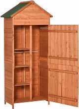 Outsunny® Gartenschrank Gartengerät Massivholz