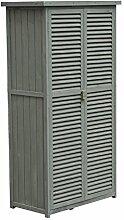 Outsunny® Geräteschuppen Gerätehaus Geräteschrank Gartenschrank Gartenhaus Schuppen, Holz, Natur/Grau, 87x46.5x160cm (Grau)