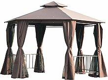 Outsunny Hexagon Pavillon Vordach-Zelt für den