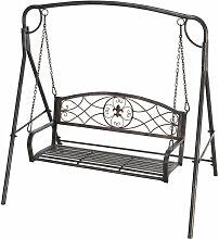 Outsunny® Hollywoodschaukel Metall Antik 2 Sitzer