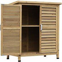 Outsunny Holz Gartenschrank Gerätehaus Gartenhaus