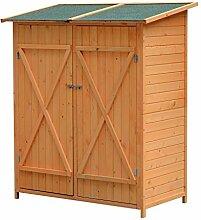 Outsunny Holz Gerätehaus Geräteschuppen