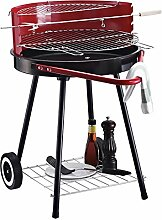 Outsunny Holzkohlegrill Rundgrill Standgrill auf