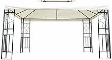 Outsunny® Metall Gartenpavillon Pavillon Partyzelt Bierzelt Gartenzelt 3x4 m creme Neu