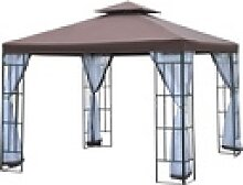 Outsunny Pavillon Gartenpavillon mit Doppeldach