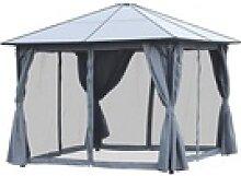 Outsunny Pavillon Gartenpavillon mit Seitenteilen