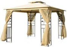 Outsunny Pavillon Luxus Pavillon mit