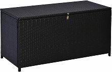 Outsunny® Polyrattan Auflagenbox Gartenbox Metall