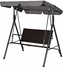 Outsunny Rattan Hollywoodschaukel, 2-Sitzer