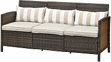 Outsunny® Rattan Sofa Outdoor Dreisitzer Garten