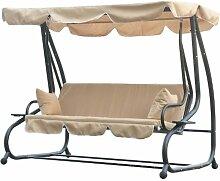 Outsunny Swinging 3Sitzer Garten Hängematte Swing Sitz Stuhl Bank Luxus + 2GRATIS Kissen