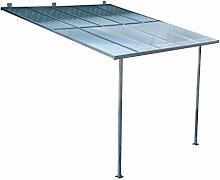 Outsunny® Terrassendach Terrassenüberdachung Überdachung Sonnenschutz Veranda, Metall+Polycarbonat, 300x300cm / 300x450cm (L300 x W300cm)