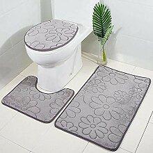 Outtybrave Badezimmerteppich-Set, 3-teilig,