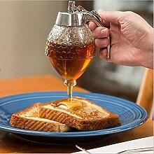 Outtybrave Honigspender, Acrylsirup Tropfflasche,