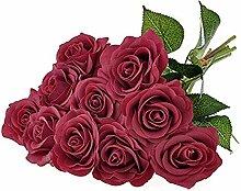 Outtybrave Künstliche Rosen Blumenstrauß