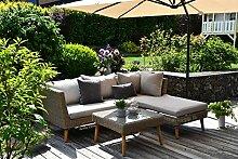 Outzone StoppDich Poly-Rattan-Lounge, Garten-Sofa