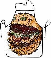 ouyjian Kitchen Apron Burger Art Funny Cooking