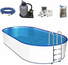 Oval-Pool-Set, Größe & Tiefe wählbar, 0,6mm